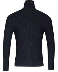 Antony Morato Pull Turtle Collar In Slimfit - Zwart