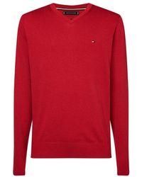 Tommy Hilfiger Pullover V-hals (mw0mw11653 - Xto) - Rood