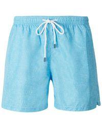 Fedeli Textured Swimsuit - Blauw
