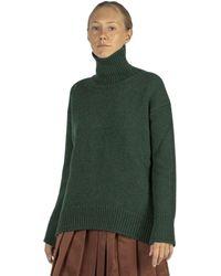 Plan C Turtleneck Sweater - Groen