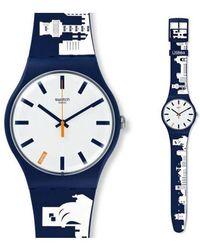 Swatch Watch Suoz211 - Blauw