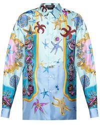 Versace Printed Shirt - Blauw