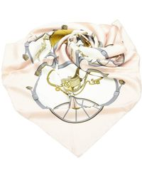Hermès Printed Silk Scarf - Bianco