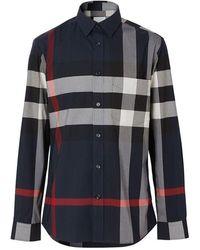 Burberry Shirts - Blauw