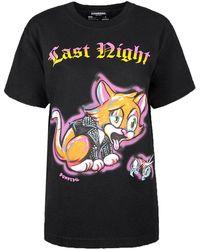 """DOMREBEL T-shirt """"last night box t"""" - Negro"""