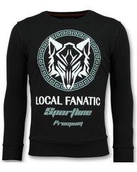 Local Fanatic Sportline Wolf - Stoere Sweater Mannen - Zwart