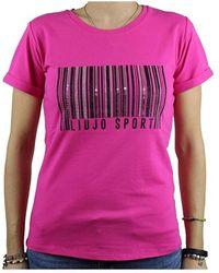 Liu Jo T-shirt With Strass - Roze