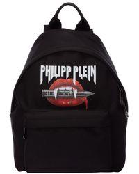 Philipp Plein Men's Rucksack Backpack Travel - Zwart