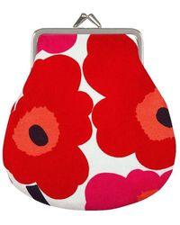 Marimekko Full Kukkaro Mini Unikko purse - Rouge
