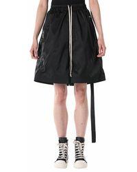 Rick Owens Drkshdw Faun Oversized Shorts - Zwart
