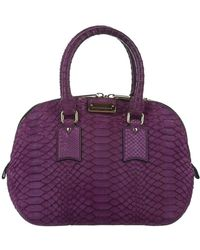 Burberry Small Orchard Python Leather Satchel - Paars