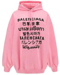 Balenciaga - Hoodie Mit Logo-print - Lyst