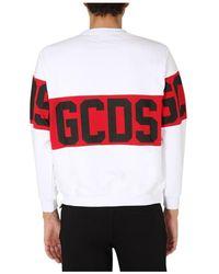 Gcds Crew Neck Sweatshirt Blanco