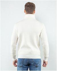 Roberto Collina Maglia collo alto con zip - Blanc