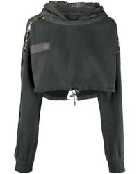 Mr & Mrs Italy Audrey tritto capsule cropped sweatshirt - Gris