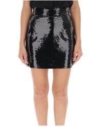 Amen Sequined mini skirt Negro