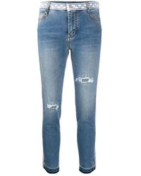 Barena Lace trim jeans - Bleu