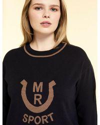 Marina Rinaldi Viskose Sweater Azul