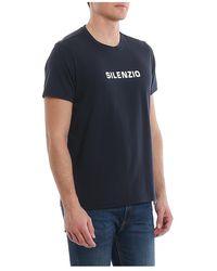 Aspesi Silenzio T-Shirt Negro - Azul