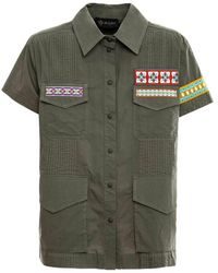 Mr & Mrs Italy Shirt With Embroidery - Groen
