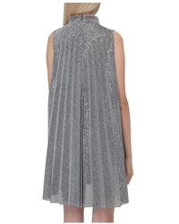 Dondup Pleated Dress Gris