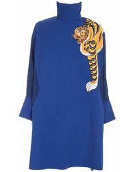 KENZO Long Overshirt - Blauw