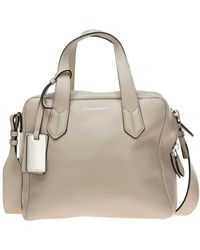 Emporio Armani Women's Leather Handbag Shopping Bag Purse - Naturel