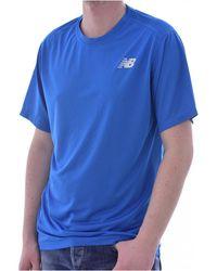 New Balance Tee shirt de running - Blu