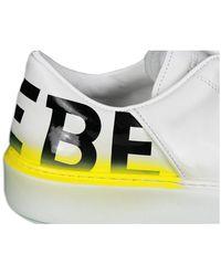 Iceberg Baskets en Cuir Logo Arrière - Bianco