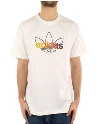 adidas Gn2428 Short Sleeve T-shirt - Wit