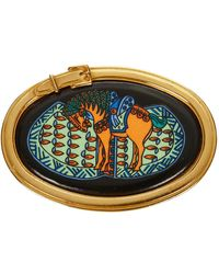 Hermès Spilla a cavallo usata in metallo - Giallo