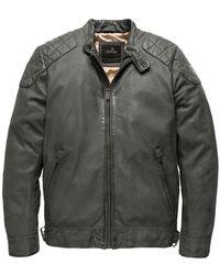 Vanguard Short Jacket Gunmetal Leren Jassen - Grijs