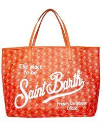Mc2 Saint Barth Borsa Shopper Marais Monogram - Oranje