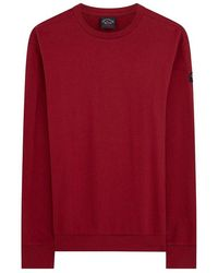 Paul & Shark Sweat-Shirt Avec Imprimé Logo - Rouge