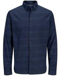 Jack & Jones Overhemd Geruit - Blauw