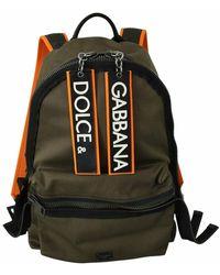 Dolce & Gabbana Laptop Travel School Backpack - Groen