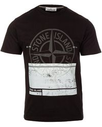 Stone Island T-shirt - Zwart