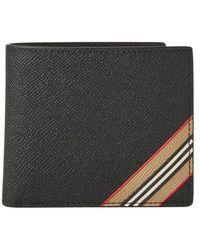 Burberry Icon Stripe Bi-fold Wallet - Zwart