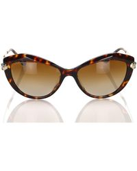 BVLGARI Cat Eye Tinted Sunglasses - Bruin