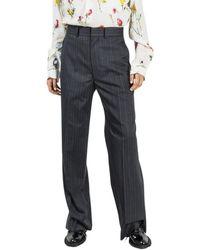 Junya Watanabe Loose striped trousers - Grigio