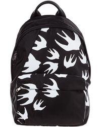 Alexander McQueen Rucksack Backpack Travel Swallow - Zwart