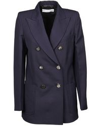 Victoria Beckham Double-Breasted Jacket - Bleu