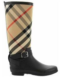 Burberry Simeon Tartan rain boots - Nero