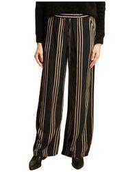 Diega Portorico striped loose trousers - Nero