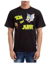 Gcds T-shirt maglia maniche corte girocollo uomo Tom & Jerry - Noir