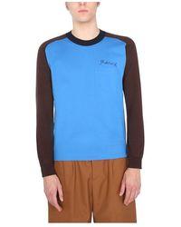 Marni Crew Neck Sweater - Blauw