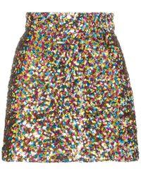 The Attico Wool Mini Skirt - Jaune