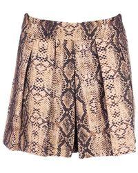 Colourful Rebel Short Kendall Skirt - Naturel