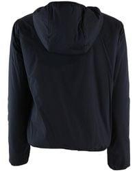 Aspesi Short jacket with fixed hood Azul