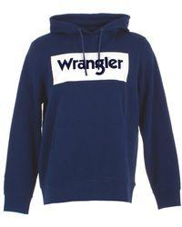 Wrangler Logo hoodie sweater - Azul